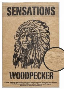 Label Sensations woodpecker