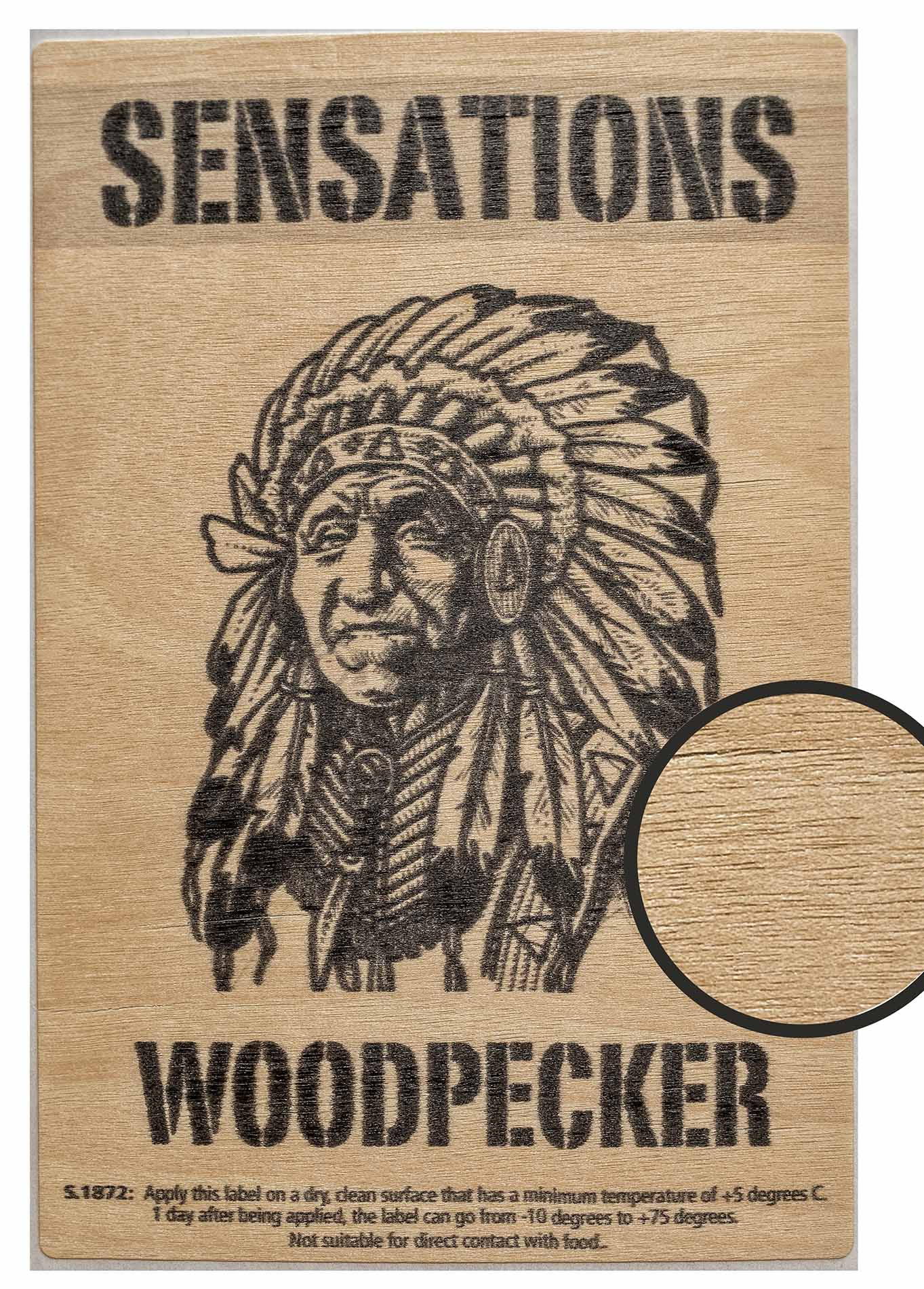 Label Sensations woodpecker