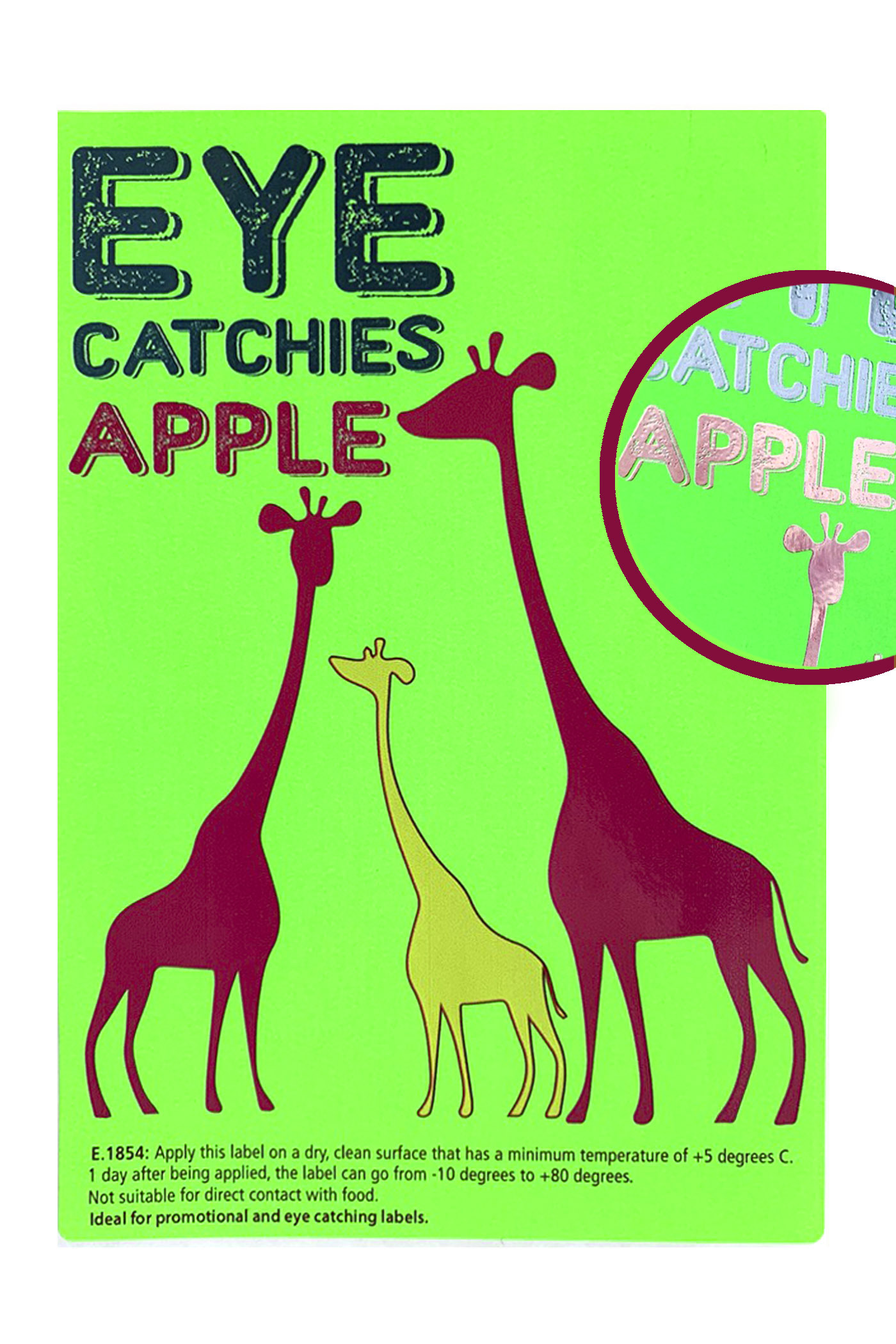 Label eye catchies apple