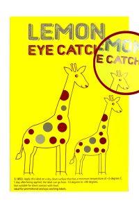 Label eye catchies lemon