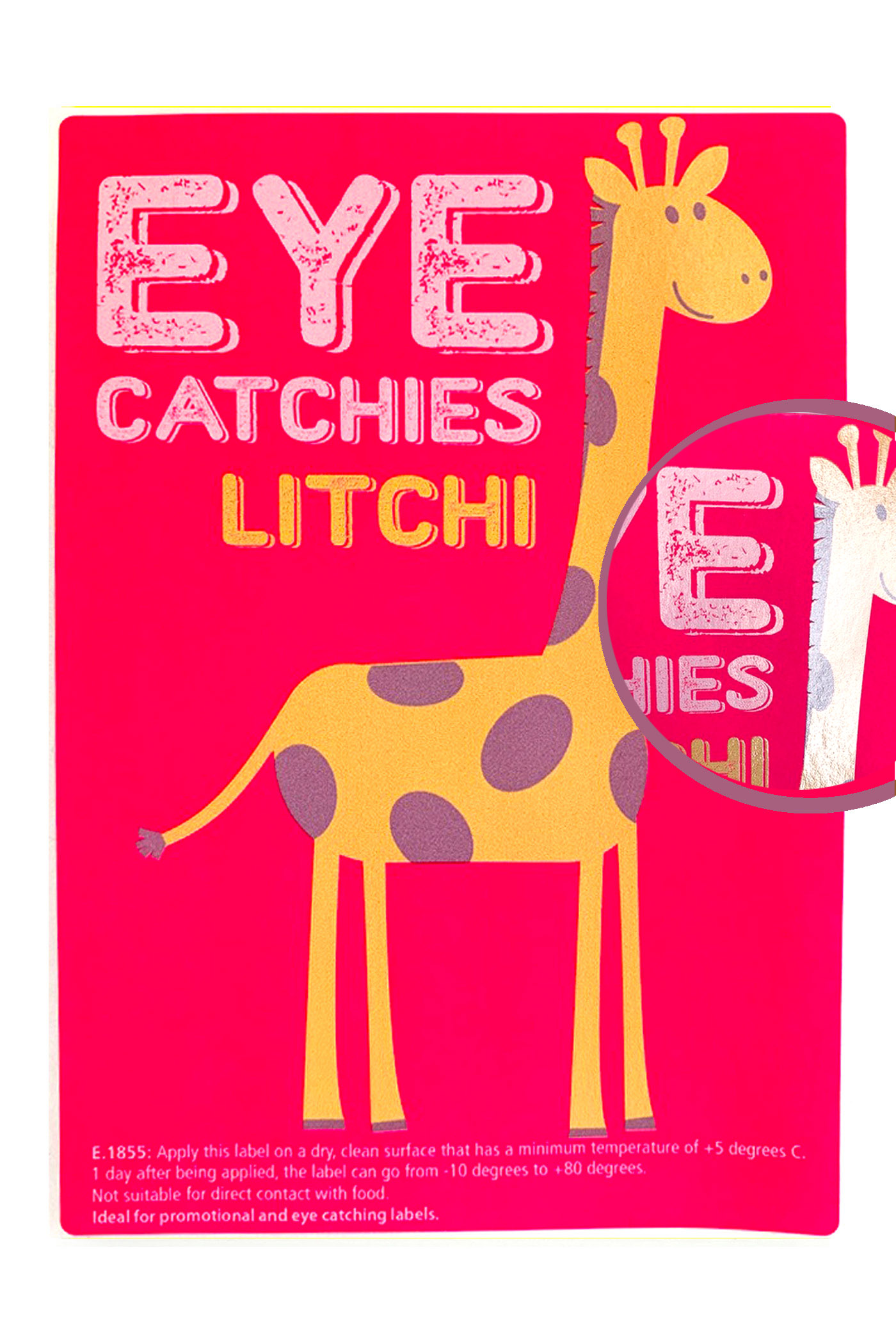 Label eye catchies litchi