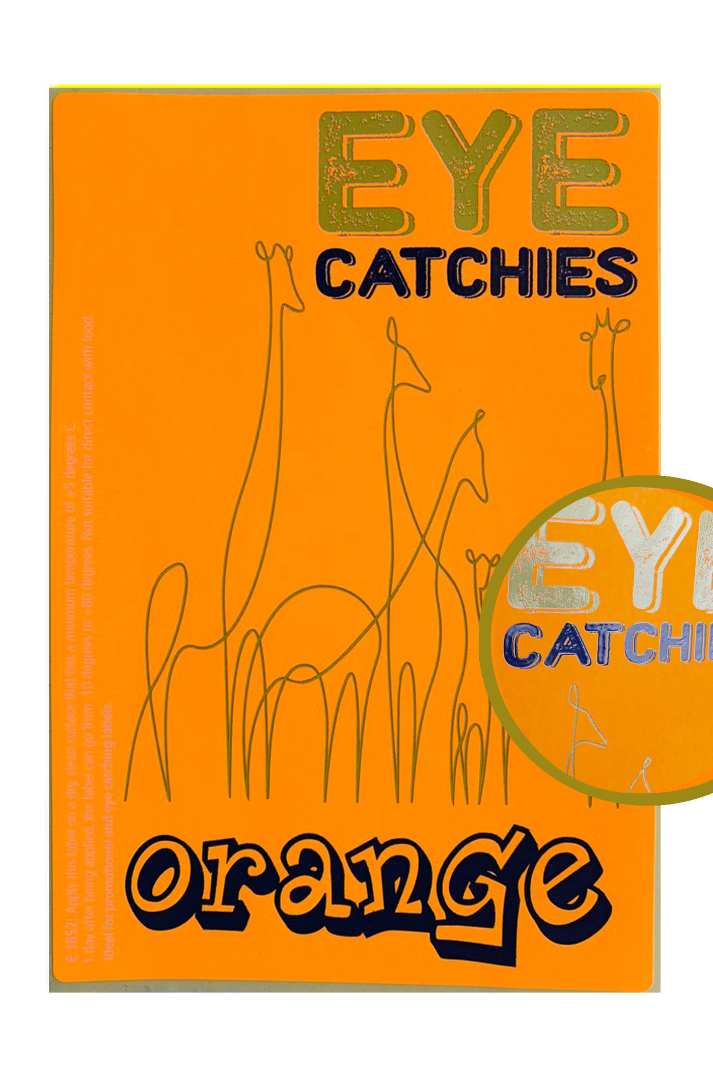 Label eye catchies orange