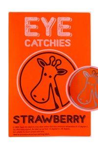 Label eye catchies strawberry