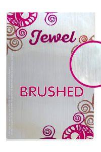 Label jewel brushed