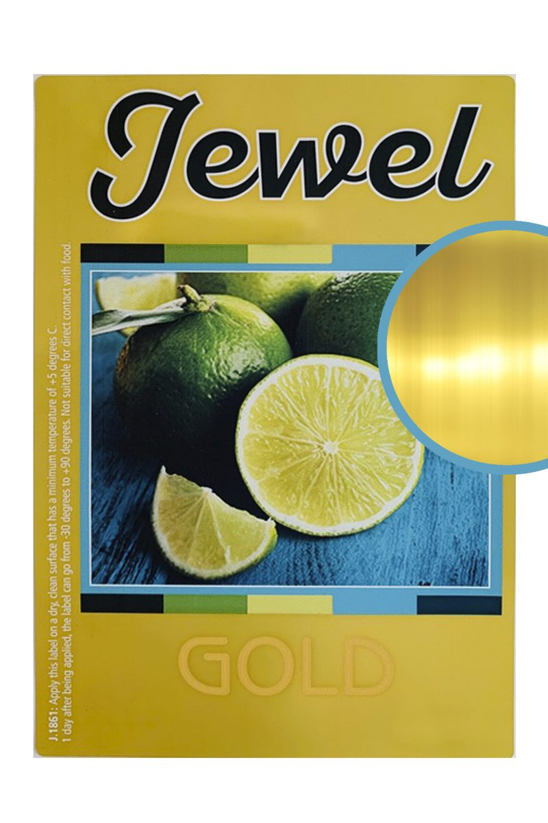 Label jewel gold