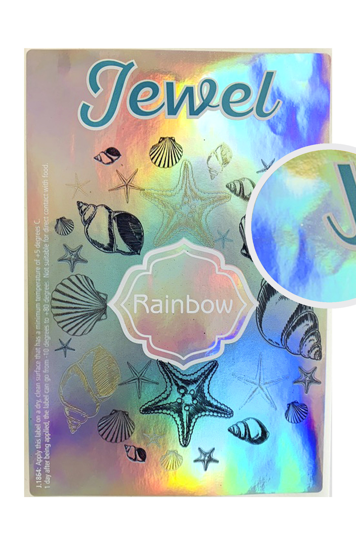 Label jewel rainbow