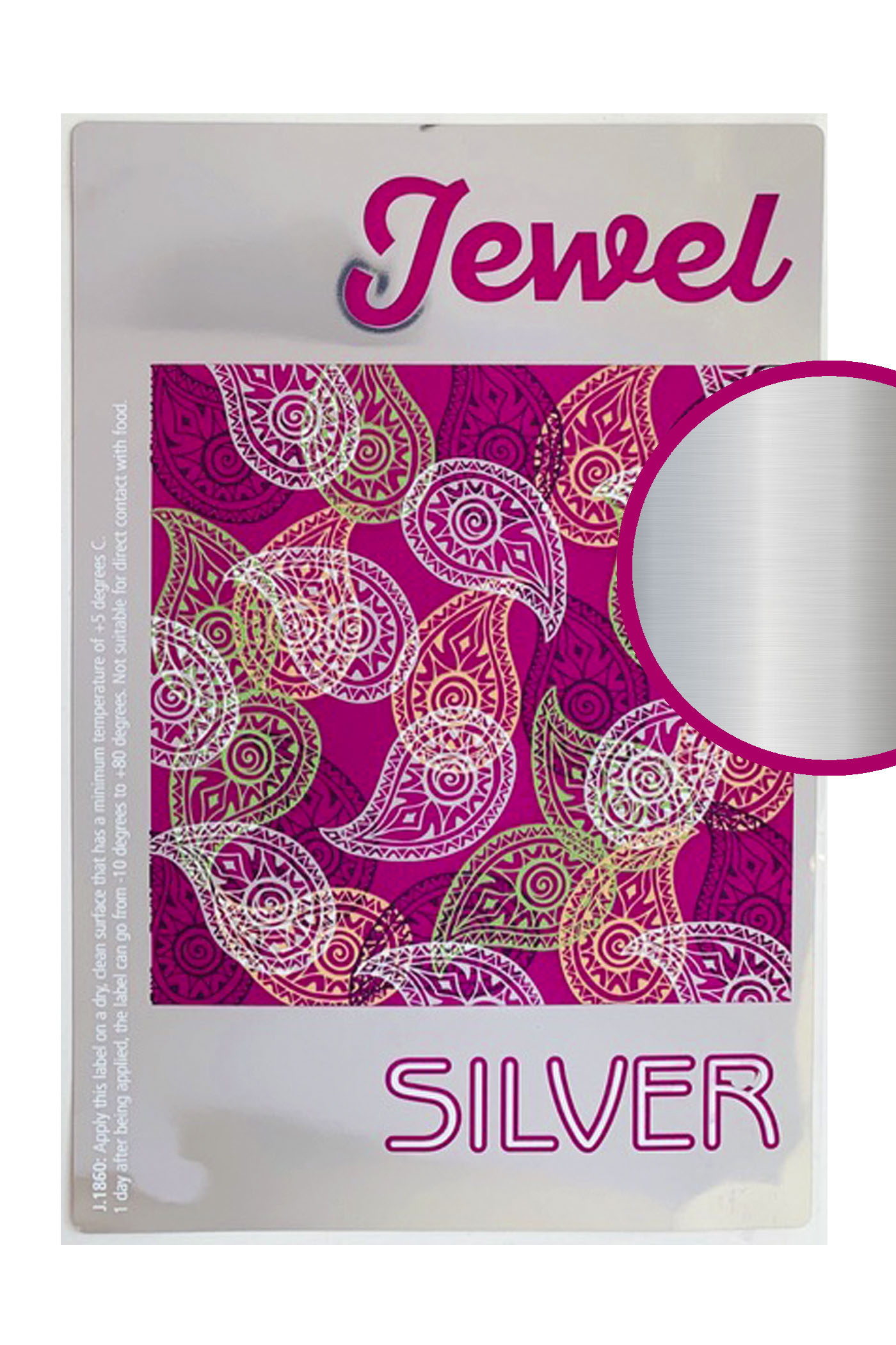 Label jewel silver
