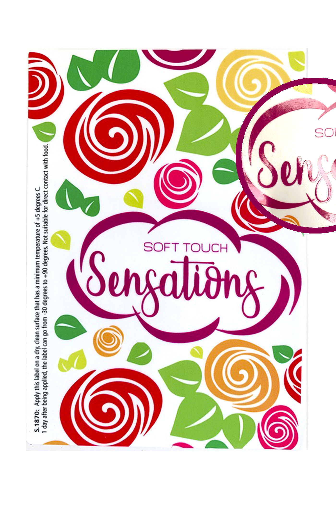 Label sensations soft touch