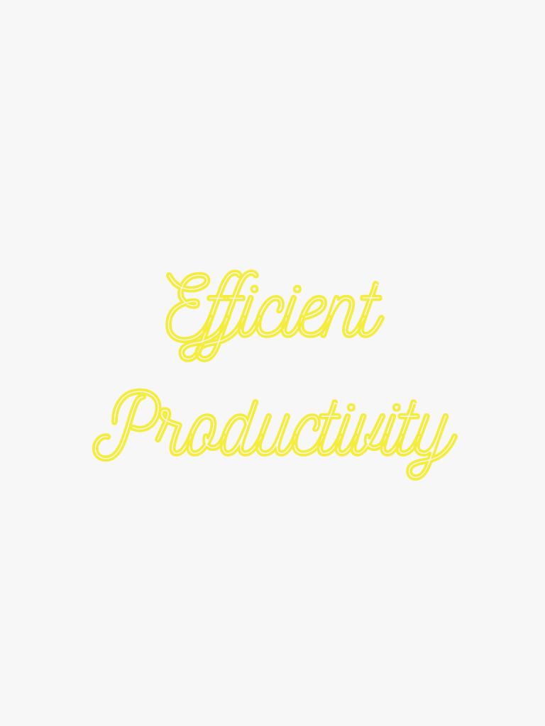 efficiency productivity