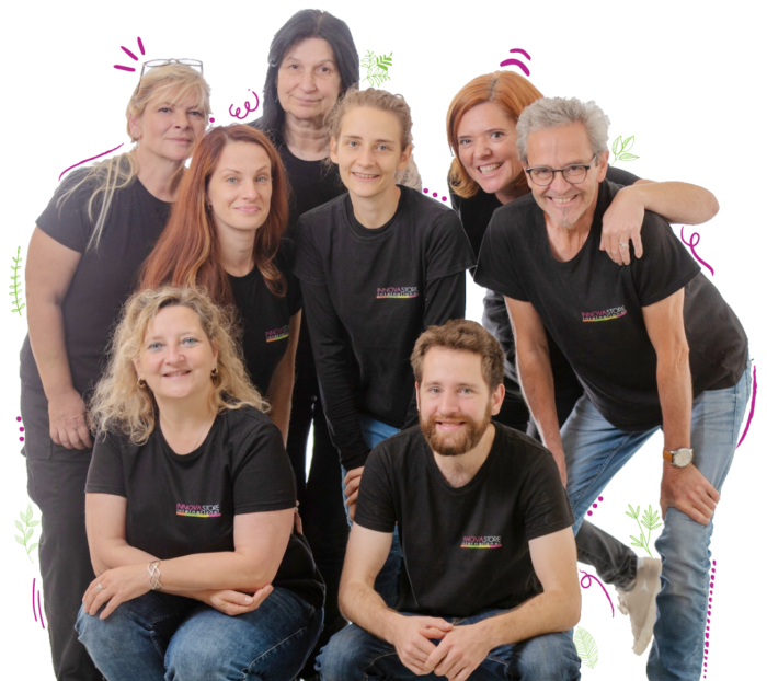 Eco friendly labels printing team