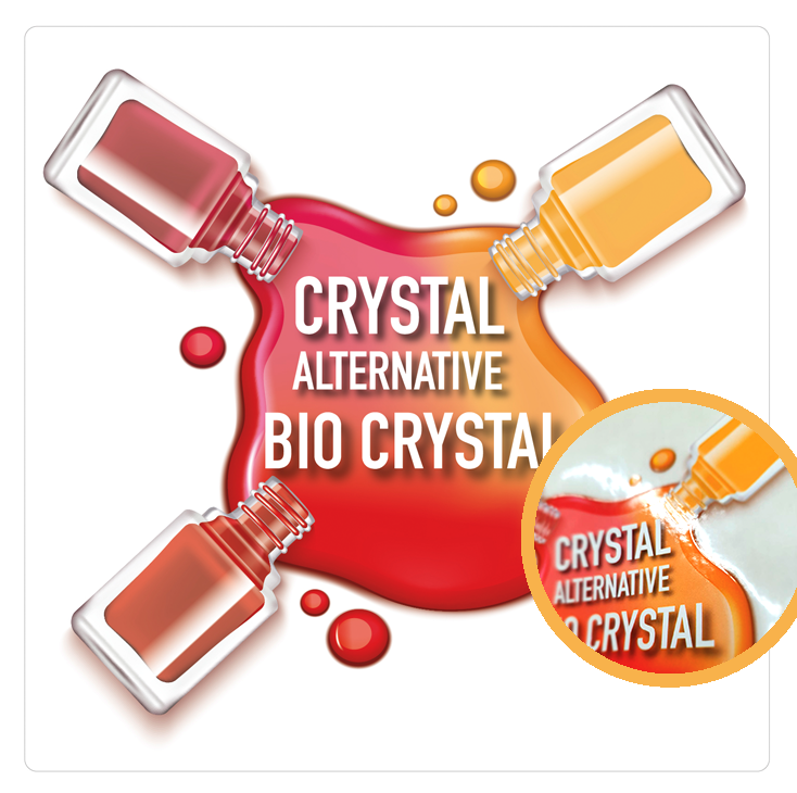 Crystal alternative bio crystal label