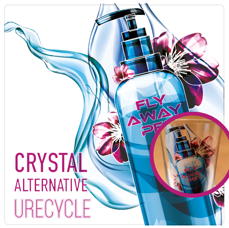 Cystal alternative recycle label