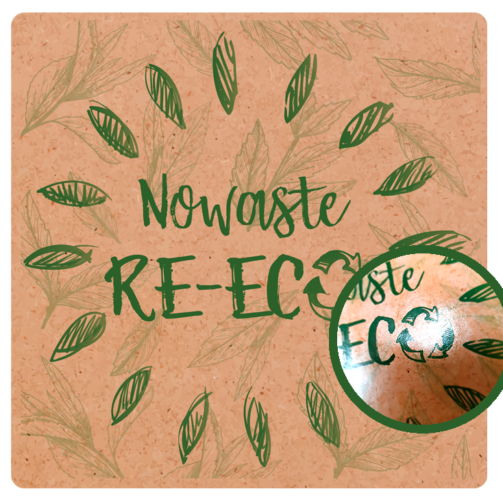No waste re-eco recyclable label